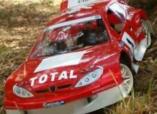 0101 Peugeot 206 Rally 1/8 GT RC Car body clear 325mm Hobao Cobra Traxxas Slash