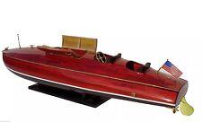 "Zipper 40"" - Handcrafted Speed Boat Wooden Model New"