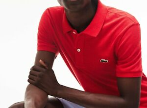 Lacoste Polo Shirt BNWT size S (3) Mens Classic Fit L1264 Red Marl Cotton
