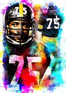 Mean Joe Greene Pittsburgh Steelers 1/25 ACEO Fine Art Print Card By:Q