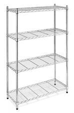 NEW Chrome Storage Rack 4-Tier Organizer Kitchen Shelving Steel Wire Shelves