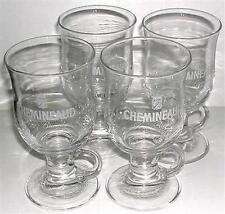 BEER DRINKING GLASS CHEMINEAUD FINE BRANDY CANADIAN SET