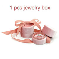 Pink Velvet Ring Watch Necklace Bracelet Bangle Pendant Jewelry Case Gift Box
