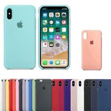 Genuina Funda SILICONA silicone case dura para Apple iPhone X 8 7 6s 6 Plus