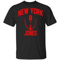 Daniel Jones T-Shirt #8 New York Giants Men's Tee Shirt Short Sleeve S-5XL