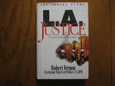 "ROBERT VERNON (Rodney King)Signed Book (""L.A. JUSTICE""-1993 1st Edition Hardback"