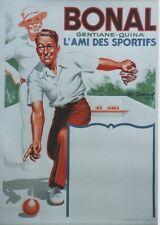 """""""BONAL"""" Affiche originale entoilée  Litho Charles LEMMEL de 1935   62x83cm"""