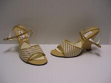 Sacha London Womens Shoes Sz 6 B US Beige White Heels Casual Dress Wedge