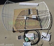 ALFA WiFi Anten 24dBi GRID + R36+ AWUS036NH Long Range Booster GET FREE INTERNET