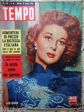 #tempo 1959 cover susan hayward #italian magazine#
