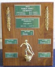 1974 World Series Champions Plaque: Oakland Athletics