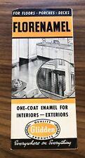 Florenamel Glidden Paint Products Brochure Sales Vintage