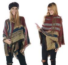 Winter Shawl Wrap Blanket Western Cowboys Ethnic Mexican Poncho Big Scarf Cape