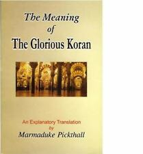 The Glorious Qur'an : The Arabic Text with a Translation in English by...
