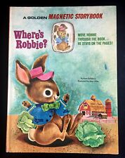 WHERE'S ROBBIE? ~ scarce Golden Magnetic Storybook ~ Salisbury ~ 1968, VG, bunny