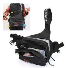 Fishing Waist Tackle Bag Waterproof Waist Shoulder Reel Lure Shoulder Bags Black