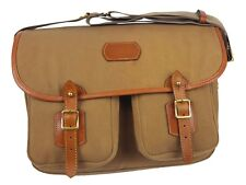 FISHING BAG - TARRAS BAG - CANVAS & LEATHER - REMOVABLE LINER - WATERPROOF