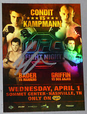 Ryan Bader Signed 2009 UFC Topps Fight Night 18 Poster Card Autograph 192 144