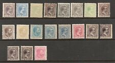 Spain Philippines 1880- Collection of 19.MH.Very Fine.
