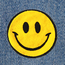 Smiley Face53mm x53mmIron On EmbroideredApplique Patch Badge