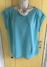 M&Co — - Green Silky Summer Top - - Size 14 - - BNWT —- RRP £22