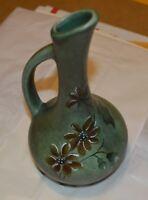 Vintage Pottery vase green