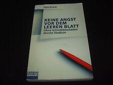 Otto Kruse - Keine Angst vor dem leeren Blatt - Ohne Schreibblockaden durchs
