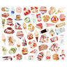 100Pcs Decor Decals Cartoon Food Stickers for Mobile Phone Diary Graffiti Cute
