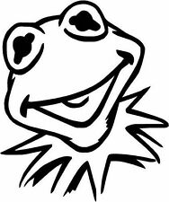 Kermit the Frog The Muppets Gloss Vinyl Car Sticker Auto Decal Scooter Graphic