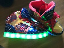 Wonder Woman Light Up Shoes Hardly Worn Super Cute! Girls Size 1