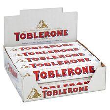 FULL BOX 20 Units TOBLERONE White Chocolate with Honey & Almond Nougat 20 x 100g
