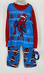 Marvel Spiderman Pajamas Pants Set Christmas Flame Resistant Holiday Boys 10/12