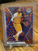 2019-20 Panini Mosaic Anthony Davis Blue Reactive Prizm SP Los Angeles Lakers