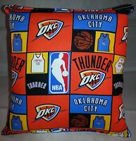 Thunder Pillow Oklahoma City Thunder Pillow NBA OKC Handmade in USA