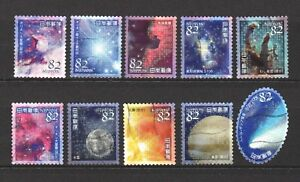 JAPAN 2018 ASTRONOMICAL SPACE WORLD SERIES 1 COMP. SET OF 10 STAMPS IN FINE USED
