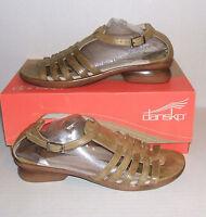 DANSKO Women's Olive Green Leather Low Heel Sandals Shoes SZ. 39 EU / 8.5 - 9 US