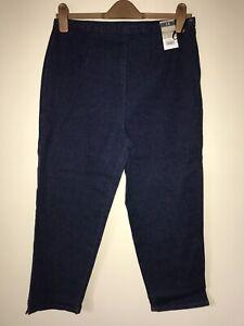 Blue Star Denim Jeans Jeggings Lyrca Stretch Crop Capri UK14 BNWT