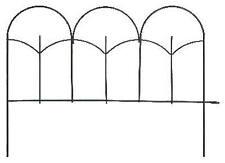 Black Round-Top Garden Fence, 14 x18-In.