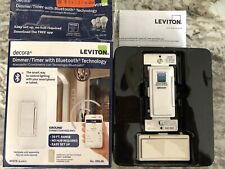 Leviton Decora Dds15 Switch Timer With Bluetooth Technology 30 Foot Range White