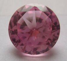 1 synthetische Steine 16,0 mm Pink, rosa, rund, Korund, Härte 9,0, AAA,  #02