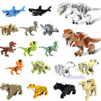 Jungle Animal Series Mini Figures Building Blocks Set Panter Tiger Dinosaurs Toy