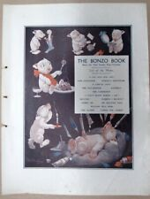 BONZO DOG ORIGINAL PRINT FROM THE SKETCH  G. STUDDY 1920'S LOT 1