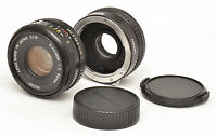Ricoh Rikenon 50mm F2 Lens + Teleconverter For Pentax K Mount! Good Condition!