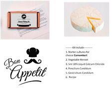 10 Litres/2.6Gal Camembert Cheese Making Kit Vegetable Rennet Candidum Calcium