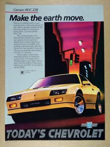 1985 Chevrolet Camaro IROC-Z vintage print Ad
