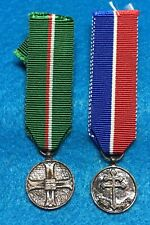 Poland - Two Miniature  medals:25th Ann. of Monte Cassino, Comm., medal 15th Div