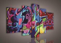 LEINWANDBILD BILD WANDBILD WANDBILDER CANVAS POSTER Strassestil Graffiti 626 S4A