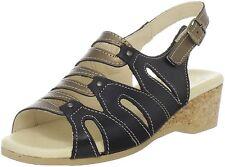WORISHOFER 611 Pewter/Black Combo Wedge Slide Sandals NEW ~ Size 38 US 7-7.5