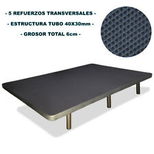 Base tapizada color Gris 105x190 cm Tela 3D Transpirable CON 6 PATAS INCLUIDAS