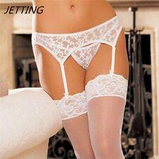Sexy Lady Lace Suspender Garter Belt Lingerie G-String Thong Set Stocking Belt